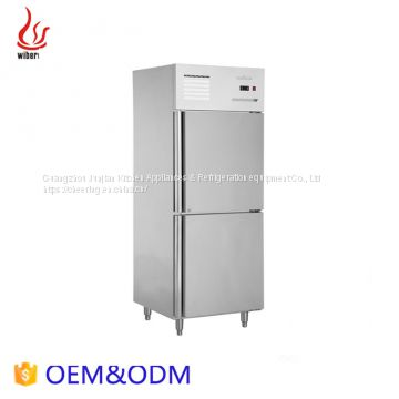 Stainless steel 4-Doors Freezers 1020L with fan cooling