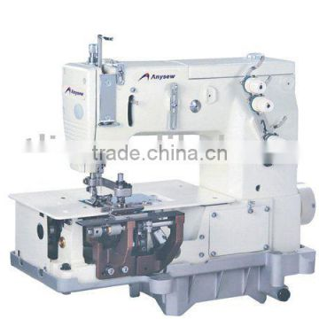 Flat-bed double-needle 3 thread chain circular belt loop sewing machine (AS2000C)
