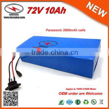 72V DC Battery Charger 20S4P Small Size 72V 10Ah Panasonic