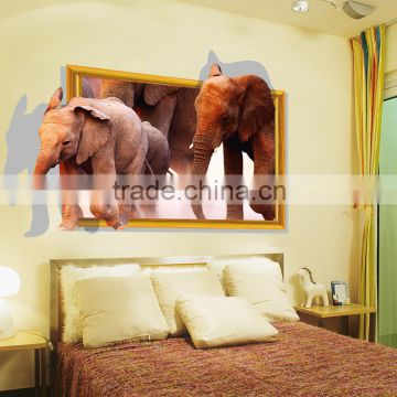 3d elephant cartoon animal animal wall sticker home decor living room kids room removed viny pvc wall sticker DLX0892