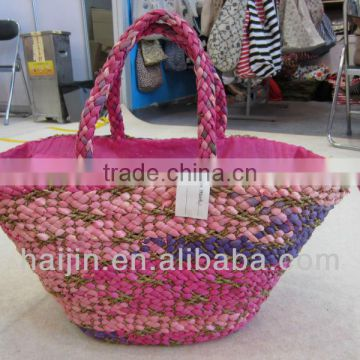 natural seagrass handmade fashion bag