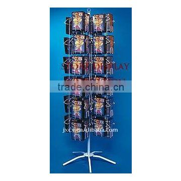 Floor stand Revolving CD Display with 72 Holders