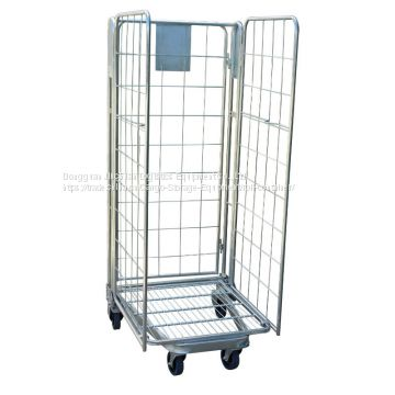 Detachable Logistic Equipment Warehouse Roll Cages Metal Foldable