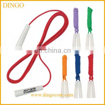 PVC rope PS handle meterial custom logo print speed jumping rope