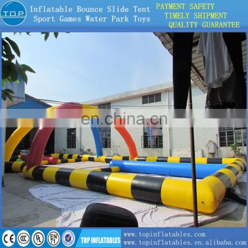TOP inflatable go cart track racing air tracl for sport game