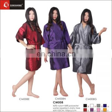 wholesale factory price nylon salon hairdressing gowns barber kimono for beauty