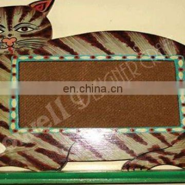 PAINTED CAT DESIGN WOODEN PHOTO FRAME