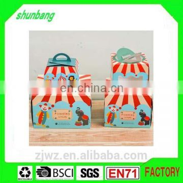 Folding cute pattern coated paper & paper 4 inch box with bottom insert