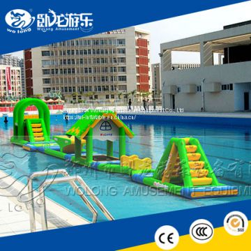 Giant Aquapark Floating Inflatable Water Park, Adult inflatable water sports For Sale