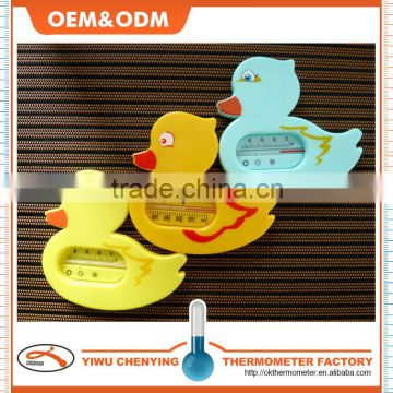 baby bath plastic water thermometer w/ duck design color option and eco-friendly material red kerosene filled cheapest item