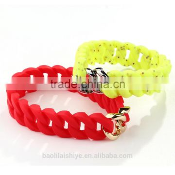 Newest arrival Bright Color Fashion Silicone Bracelets 2017