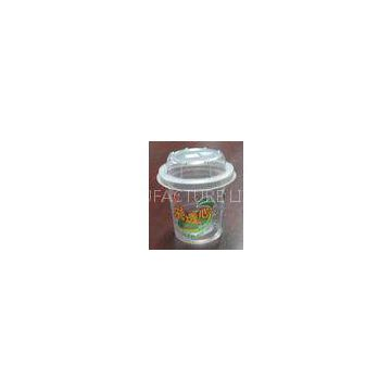Disposable Plastic Ice Cream Container 200ml , Straight Cup Body PET