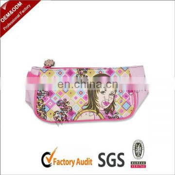Eco-friendly Pink cute pencil case for teenagers
