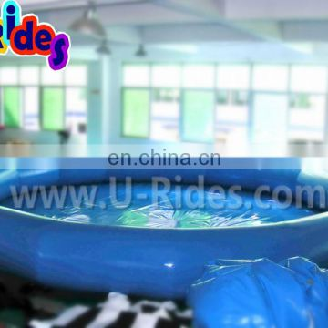 Bule 0.9mm PVC inflatable round swimming pool