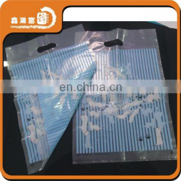 50micron die cut shopping clear plastic bag with logo