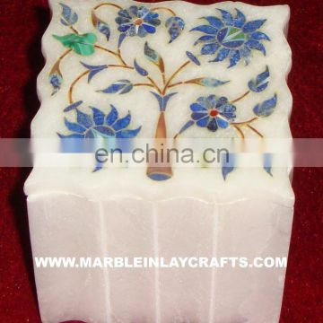 Fancy Marble Inlay Jewellery Box