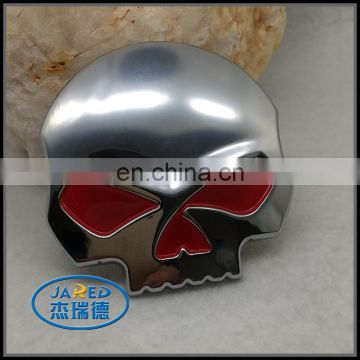 Car Skull Badge Zinc Alloy Material with 3M Self-adhesive for Sale