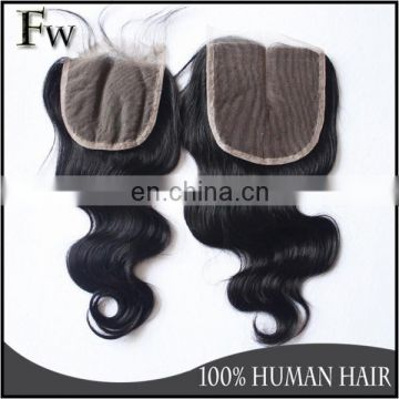 Good quality true glory hair body wave closure 100% remy virgin brazilian human hair lace closure