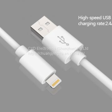 MFi lightning cable, lightning to USB A 2.0 plug