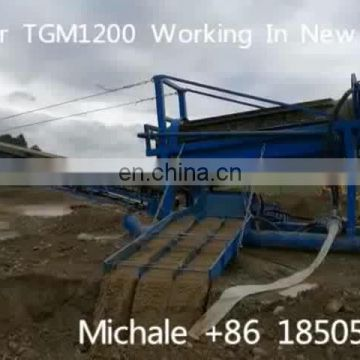 Mini small gold separasting machine a gold trommel and sluice box alluvial gold washing plant
