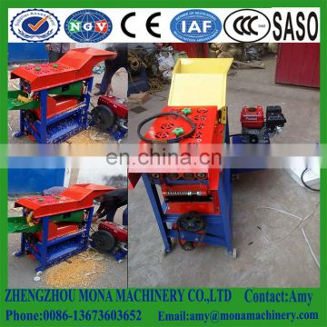 Hot sale electrical corn threshing machine/ farm used maize husking and sheller/ corn husking thresher