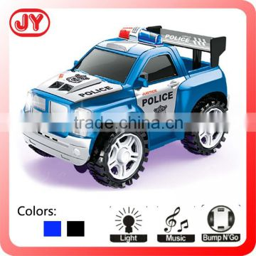Funny BO plastic police car toy with flashing light