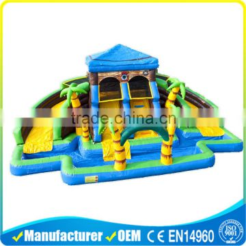 Commercial Inflatable Water Slides , Blue Hippo Giant
