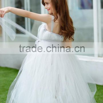 Latest Children Princess Wedding bridesmide dresses Frocks Birthday Sash A Line Long Flower Girl Dresses Pattern Kids Party LF26