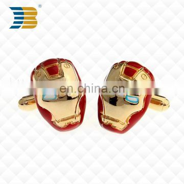 JiaBo New custom fashion super hero metal cufflinks for men