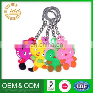 fashion made excellent silicone key chain,keychain silicone