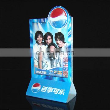 New design led PMMA menu card display stand plexiglass menu card display acrylic menu card holder