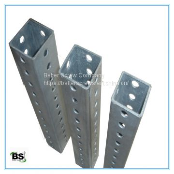 Galvanized steel tubing are used for mounting solar power equipment