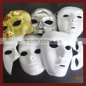 Whosale Cool Halloween Costume pvc mask/ white pvc mask /color mask                                                                         Quality Choice