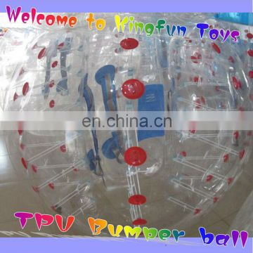TPU bumper body zorb/inflatable soccer ball