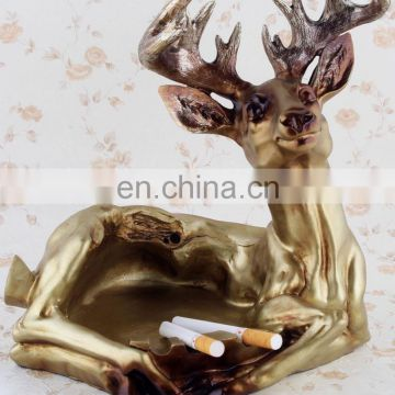 customized color resin deer ashtray crafts desk decoration
