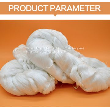 China supplier high quality 250g/hank raw white 100 spun polyester yarn
