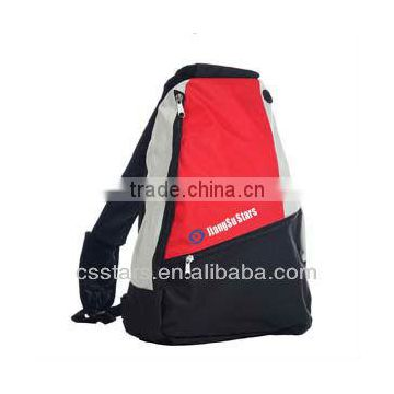Red Side Sling Backpack School Book Bag
