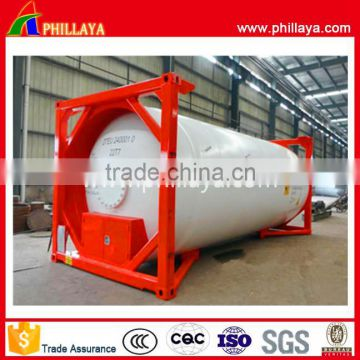 40000L transportation lng lpg iso tank container 20ft for sale of