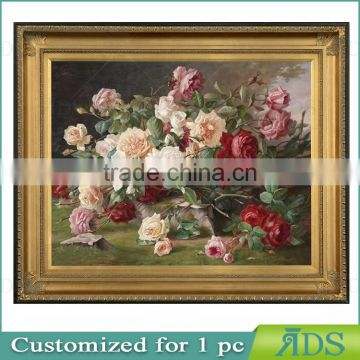 Popular Modern Rose Flower Oil Painting On Canvas