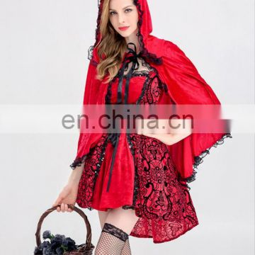 2017 New Style High Quality Red Witch Dress Halloween Cosplay Costume