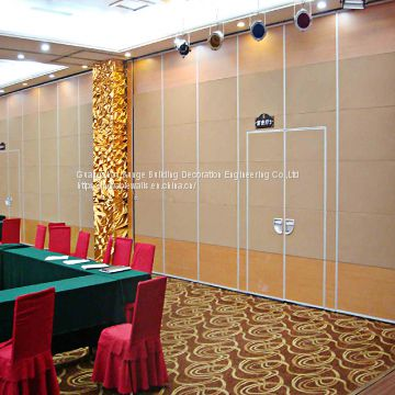 Sliding Aluminium Track Melamine Surface Conference Room Soundproof Movable Partition Wall Divider