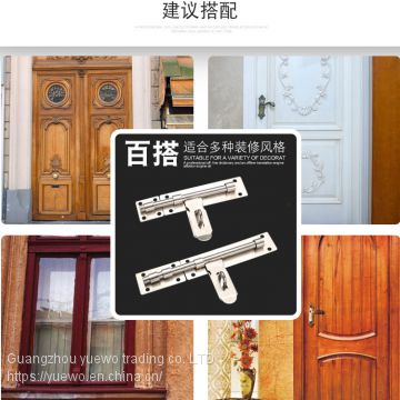 Rongxin stainless steel bolt lock lock door lock lock door lock door lock door lock door safety lock big bolt home insta