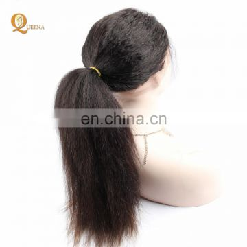 Kinky Straight Frontal Wigs Lace Front Human Brazilian Hair 360 Lace Frontal Wig