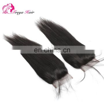 Hot selling top quality natural indian hair cheap lace frontal closure