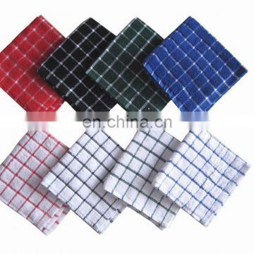 100% coton check kitchen towel