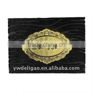 Office Stationery Oval Foil Stamping Logo Flocking Cloth Arabia Honor Certificate, Foil Stamping, Good Quality Certificate