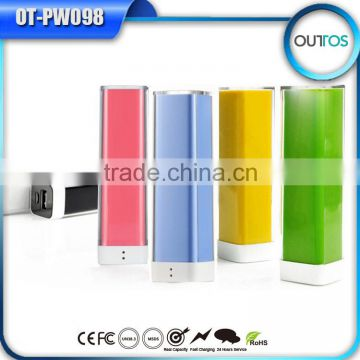 Wholesale alibaba lipstick powerbank 2600mah