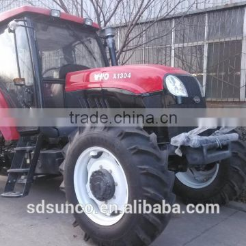 Farm Tractor,Wheeled Tractor 130 hp 4WD Farm tractors with implements,front end loader,backhoe,log trailer with crane