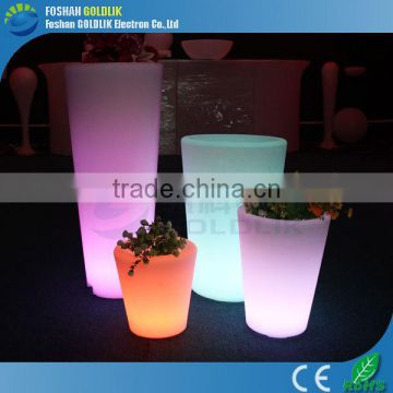 Home Balcony Drainage RGB Color Changing LED Flower Pot