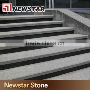 Chinese Outdoor Entrance Natural Grey Granite Stairs Prices